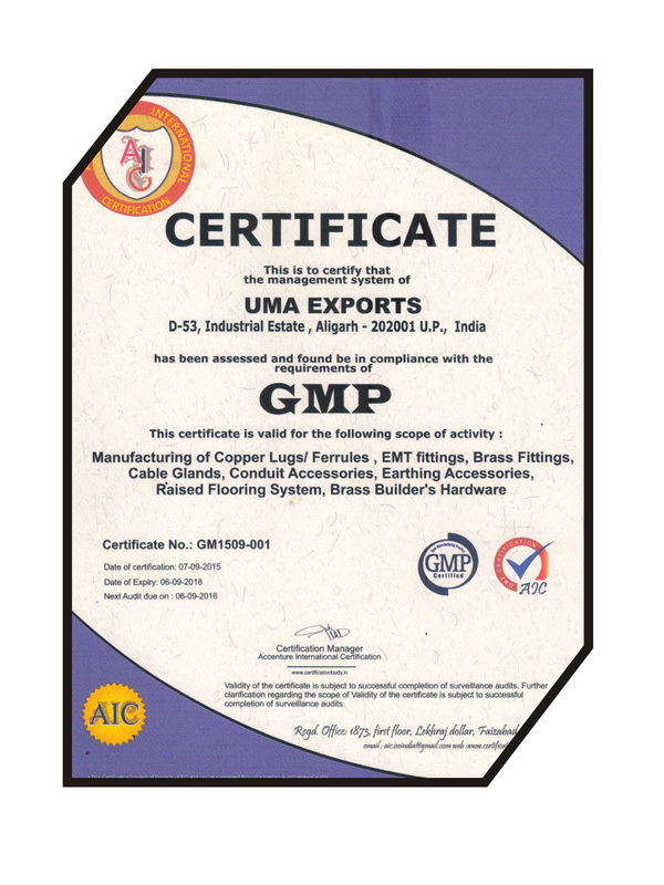 Certification Uma Exports